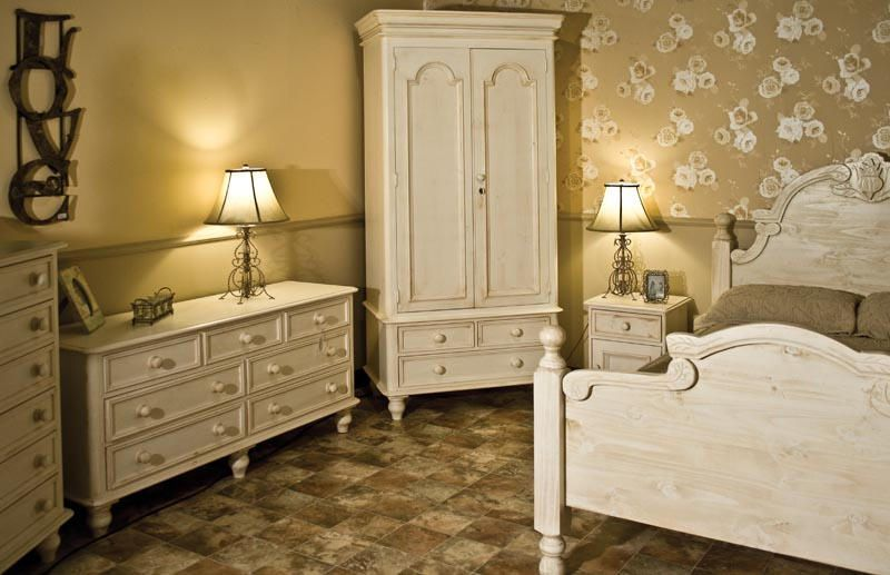 Shabby Chic Painted Pine Furniture Available In Waxed White And Cream