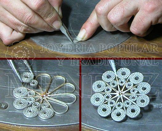 popular jewelry.  Filigree.  craftsmanship of a charro button.