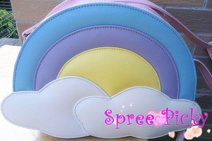 Lolita lovely rainbow bag - pink/blue SP130227