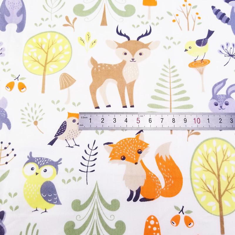 Tissu de coton imprimé bébé Fille en sergé Tissu pour À faire soi-même Couture Patchwork Tissu Feuille