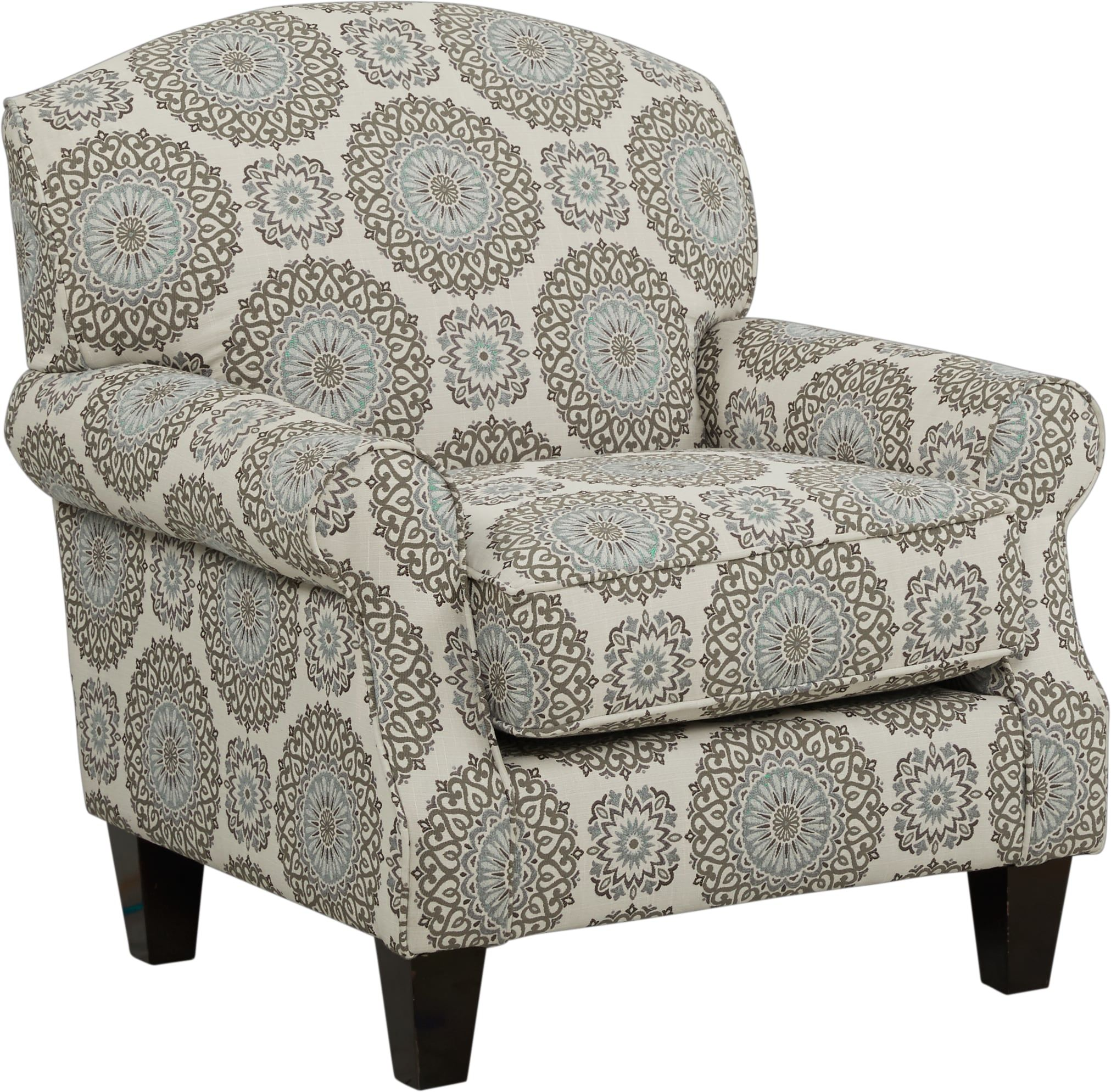 Pennington Blue Medallion Accent Chair In 2019 Accent