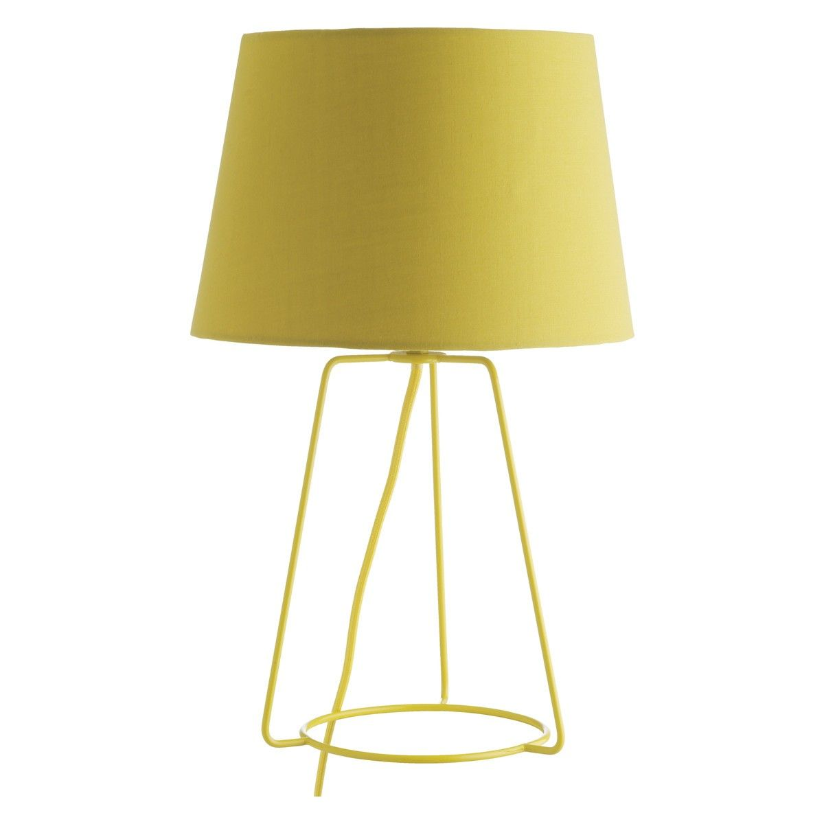 LULA Yellow Metal Table Lamp With Fabric Shade