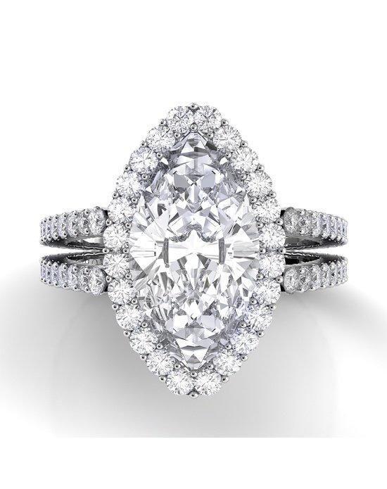 Danhov Carezza Double Shank Marquise Engagement Ring photo