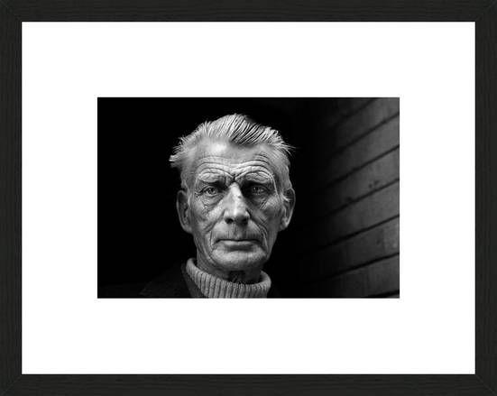Jane Bown, Samuel Beckett, 1976 / 2011 © www.lumas.de/ #Lumas70er ,  dunkel…