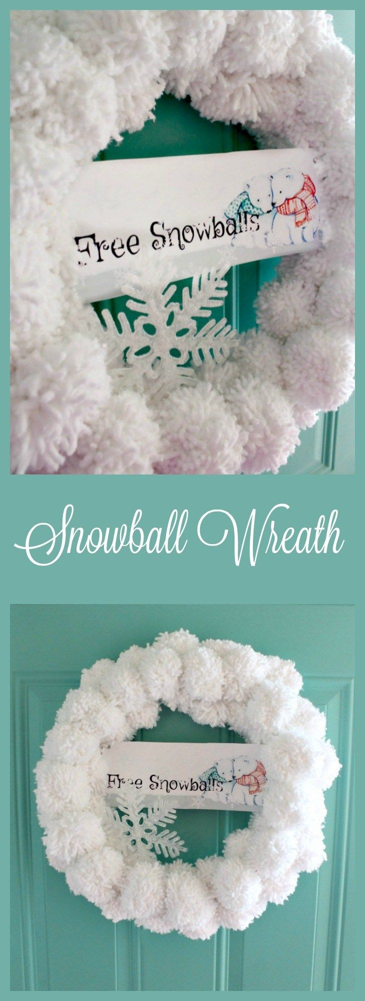 12 Days of Christmas - DIY Snowball Wreath | Coronas ...