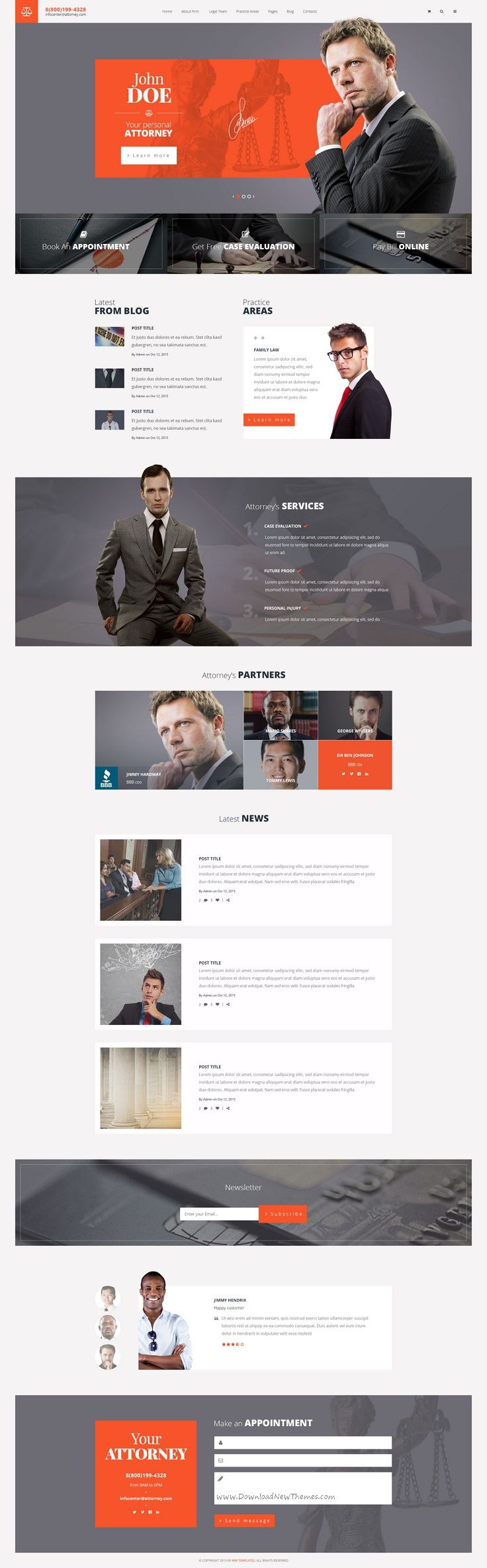 Attorneys Is A Premium PSD Template For Law Firm Personal Law - Law firm templates