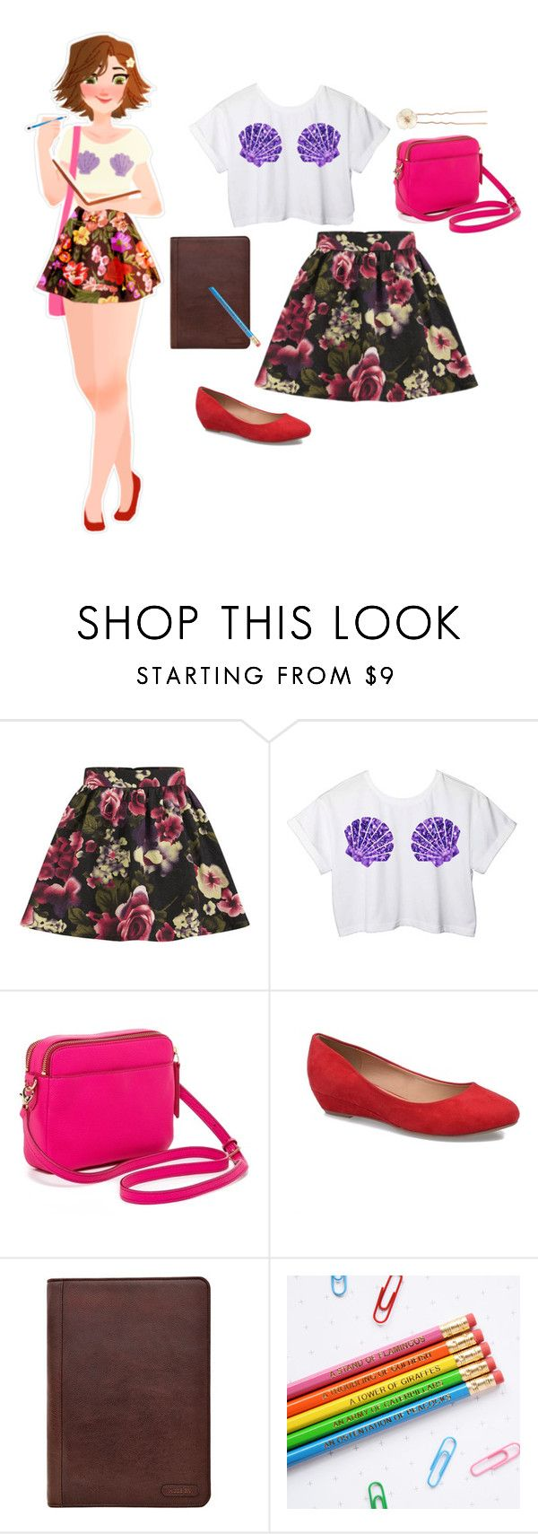 """""""Rapunzel"""" by disney-andthings ❤ liked on Polyvore featuring Disney, Girls On Film, FOSSIL, Hidesign and Accessorize"""