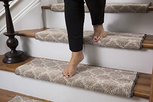 Parterre Wool Inspired Bullnose Carpet Stair Tread With A Https | Single Carpet Stair Treads | Stair Runner | Adhesive Padding | Wood | Sisal Stair | Non Slip