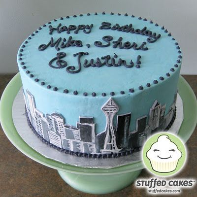 Seattle Skyline Cake