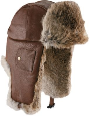 ad8ec6c4bdb This Mad Bomber Deerskin Leather Fur Hat is made of 100% deerskin leather  and has rabbit fur trim on the front and under the earflaps for added ...