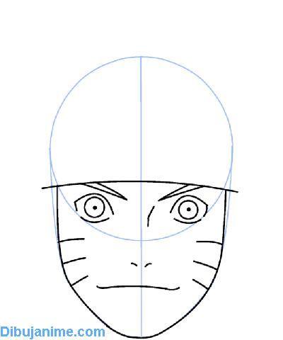 Como dibujar Naruto – tutorial para aprender a dibujar cara paso a ...
