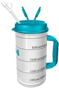 Track your Daily Water intake with short Time Goals!  Hydr-8 Water Bottles