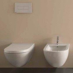 Sanitari Sospesi Ceramica Globo Stockholm WC + BIDET + SEDILE ...