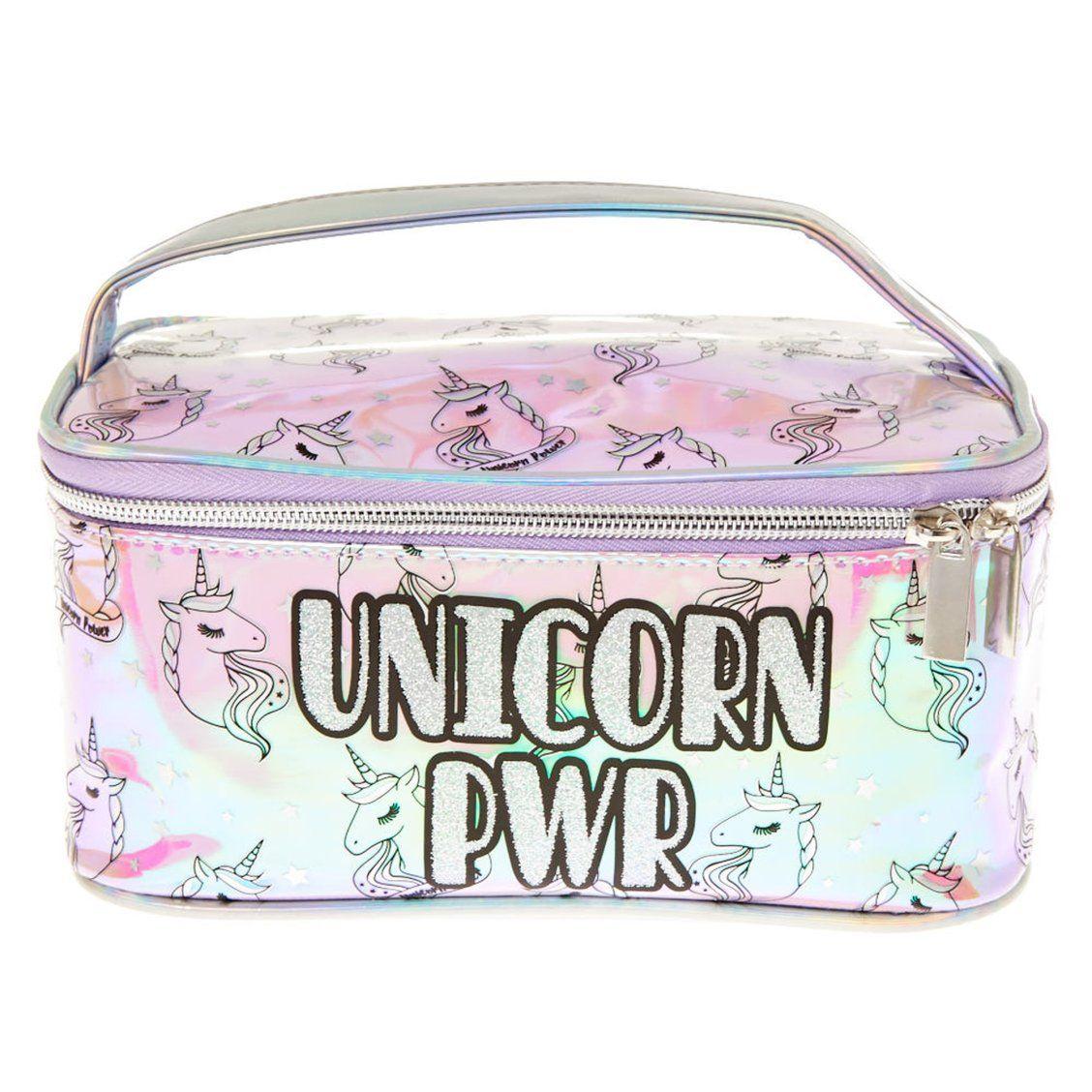 UNICORN PWR Holographic Cosmetics Bag with Handle Keep