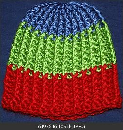 hat that looked as if it had been knitted