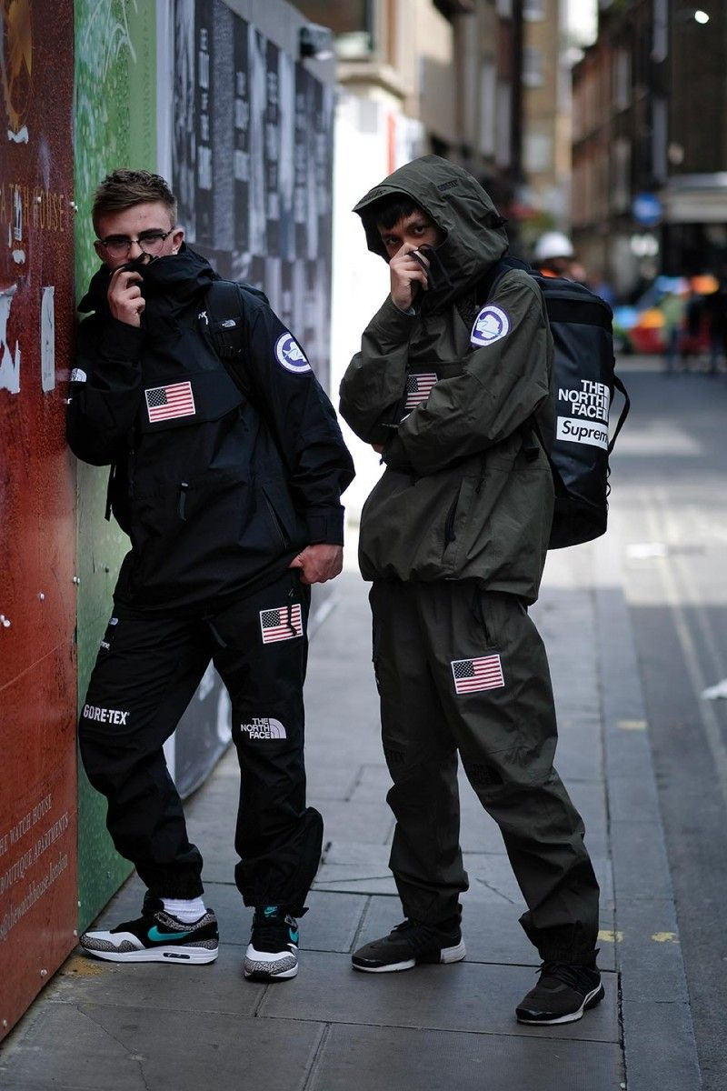 129ccee8c Street Style Looks From London's Supreme x The North Face Drop ...