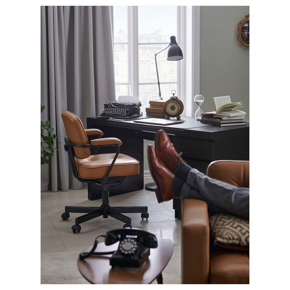 ALEFJÄLL Office chair Grann golden brown in 2020