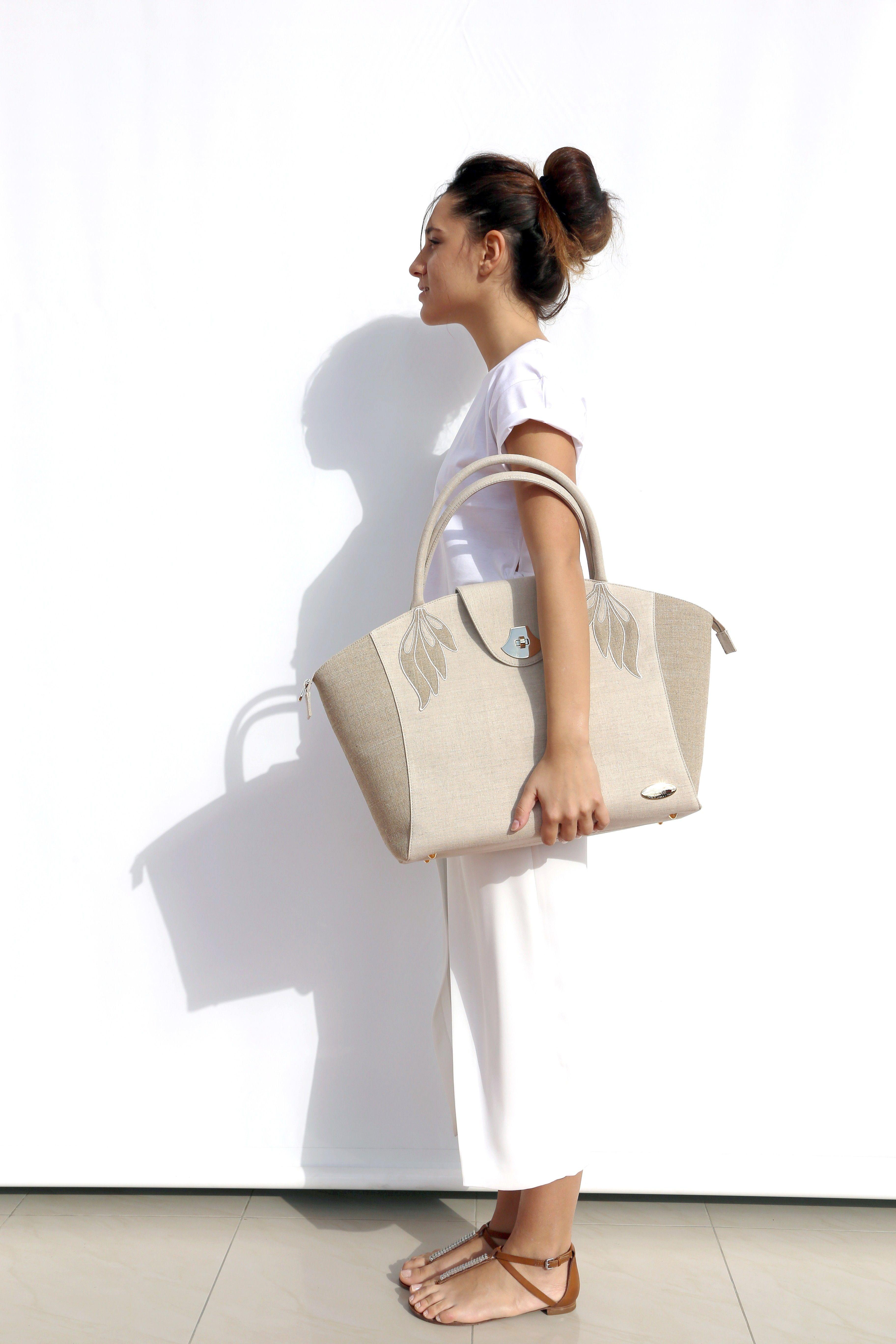"""Spiga"" #hemp canvas bag"