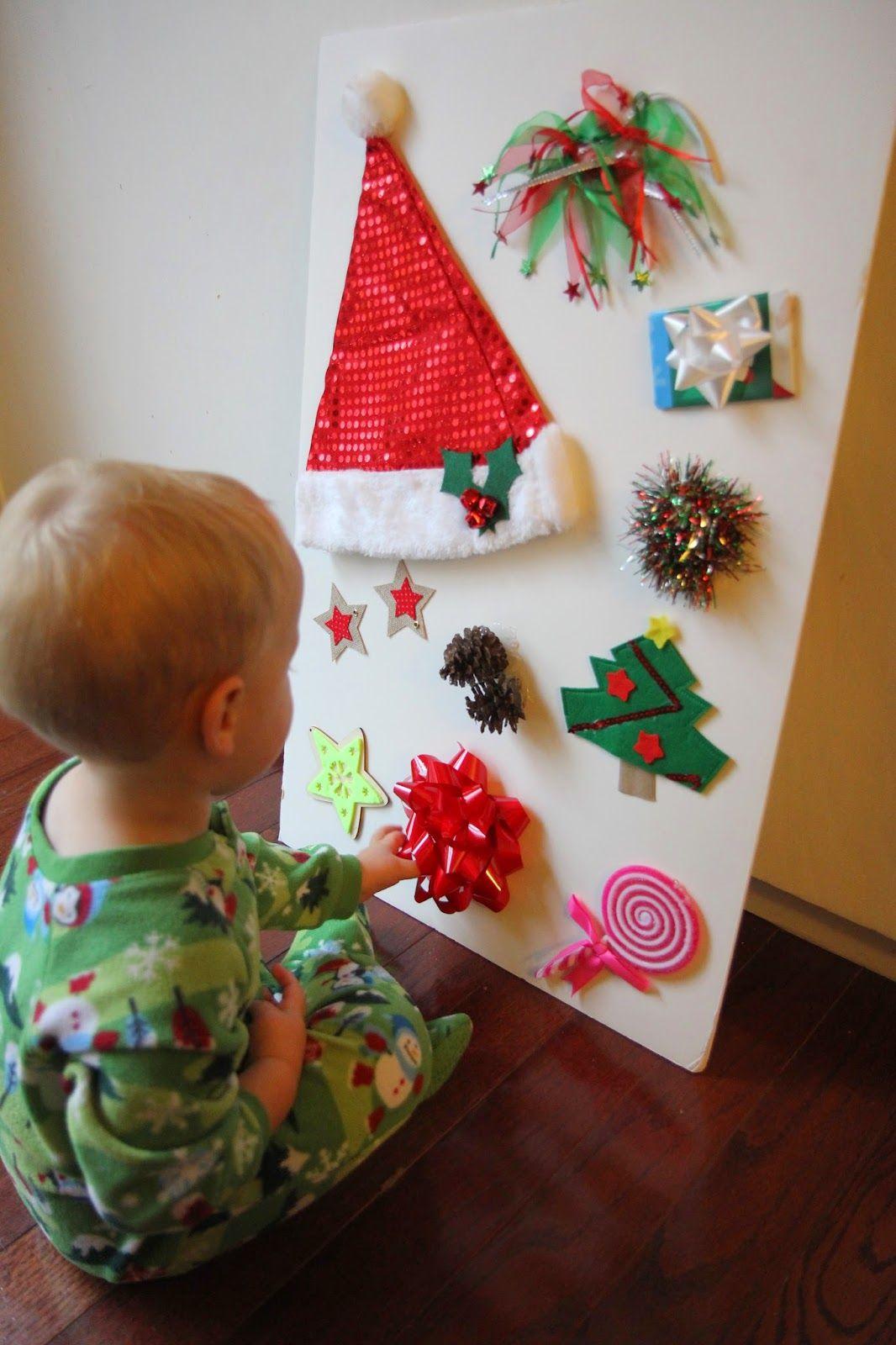 Christmas Sensory Board For Kids