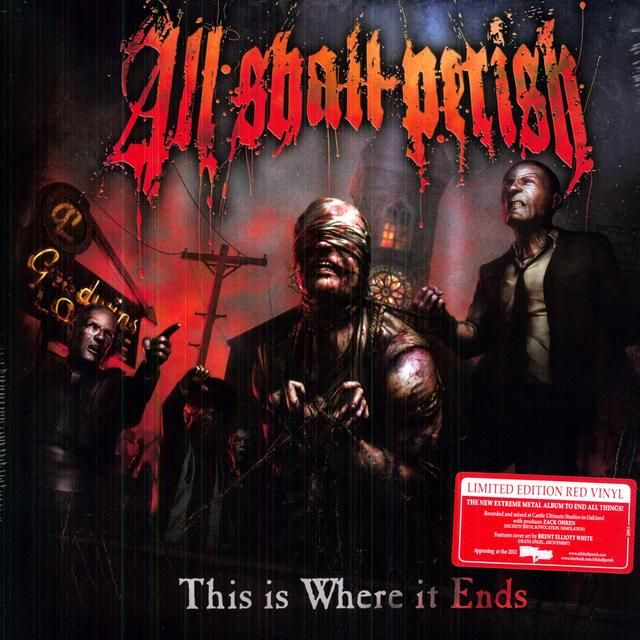All Shall Perish This Is Where It Ends Vinyl Record As I Lay Dying Vinyl Records Death Metal