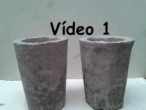 Vaso de cimento p/ Bonsai cascata (  kengai ) 1° parte. - YouTube
