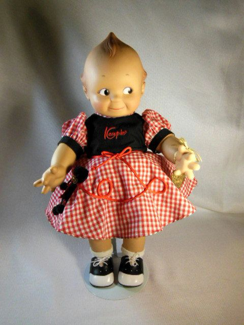 "This  item is a Really Cute Vintage Cameo Kewpie Doll with her Original Clothes and Hang Tag in the Rosie O'Neill Design. The Kewpie is 16"". by VintageQualityFinds on Etsy"