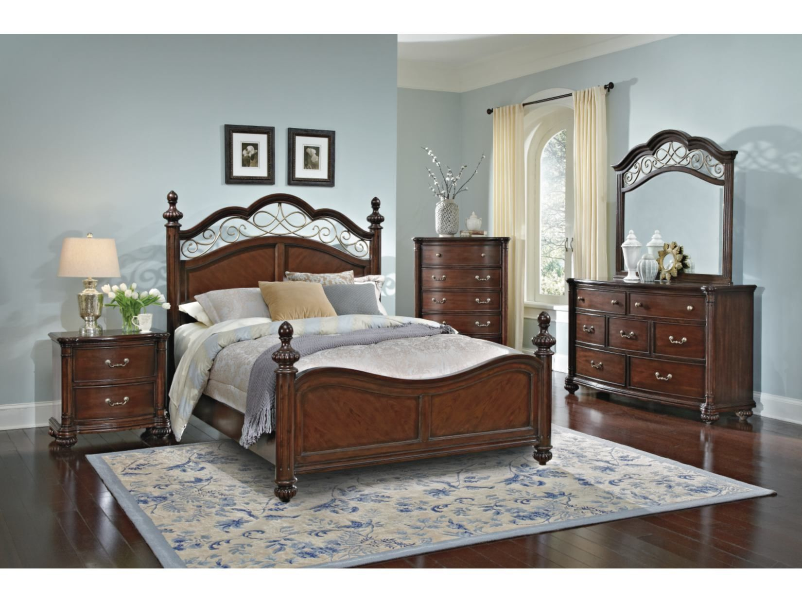If the bedroom set was my style: Derbyshire Cherry Set - Value City ...