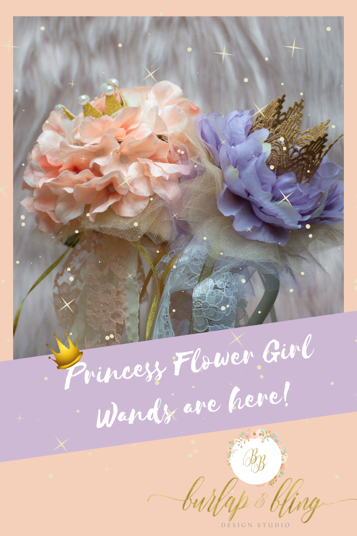 c4a253b671136 Our princess flower girl wands are the perfect for your little flower girl  to carry down