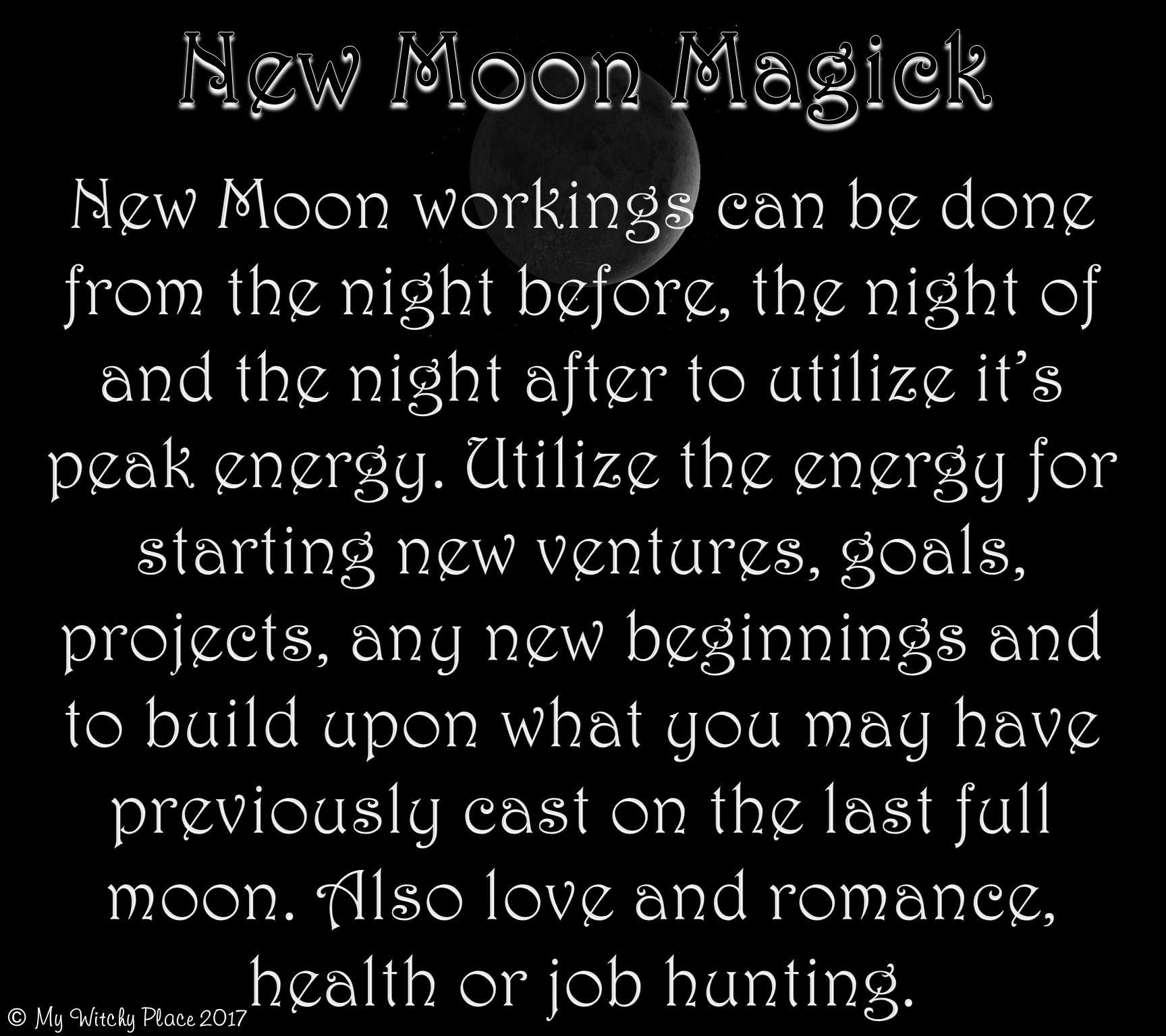 New Moon Magick #newmoonritual
