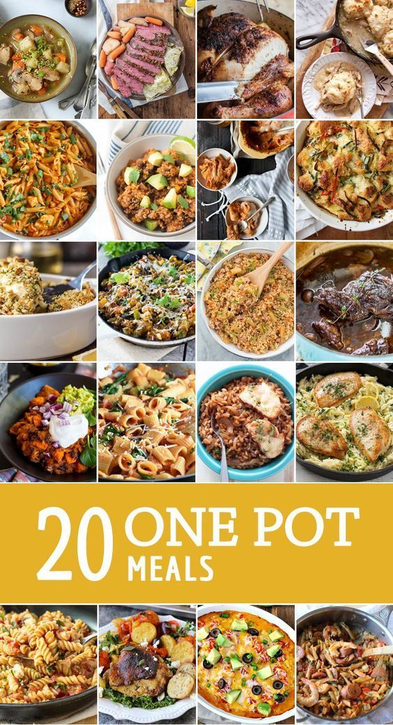 20 ONE POT MEALS! Easy one pan meals for every occasion. What's better than everything in one pot, including sides! BEST ONE POT MEAL ROUNDUP EVER!