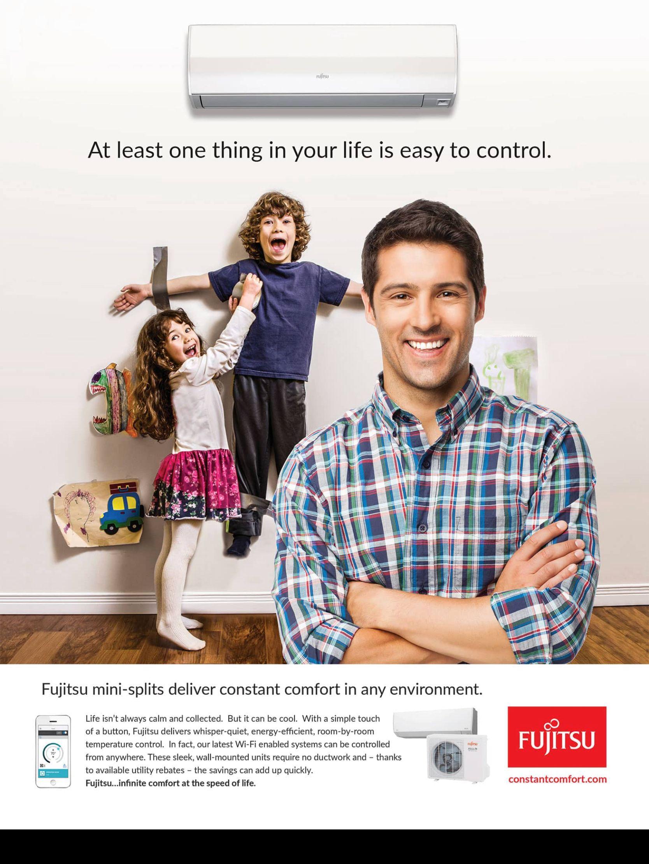 Advertisement From Hgtv Magazine Jan Feb 2018 Read It On The Texture App Unlimited Access To 200 Top Ma Heat Pump System Ductless Mini Split Mini Split Ac