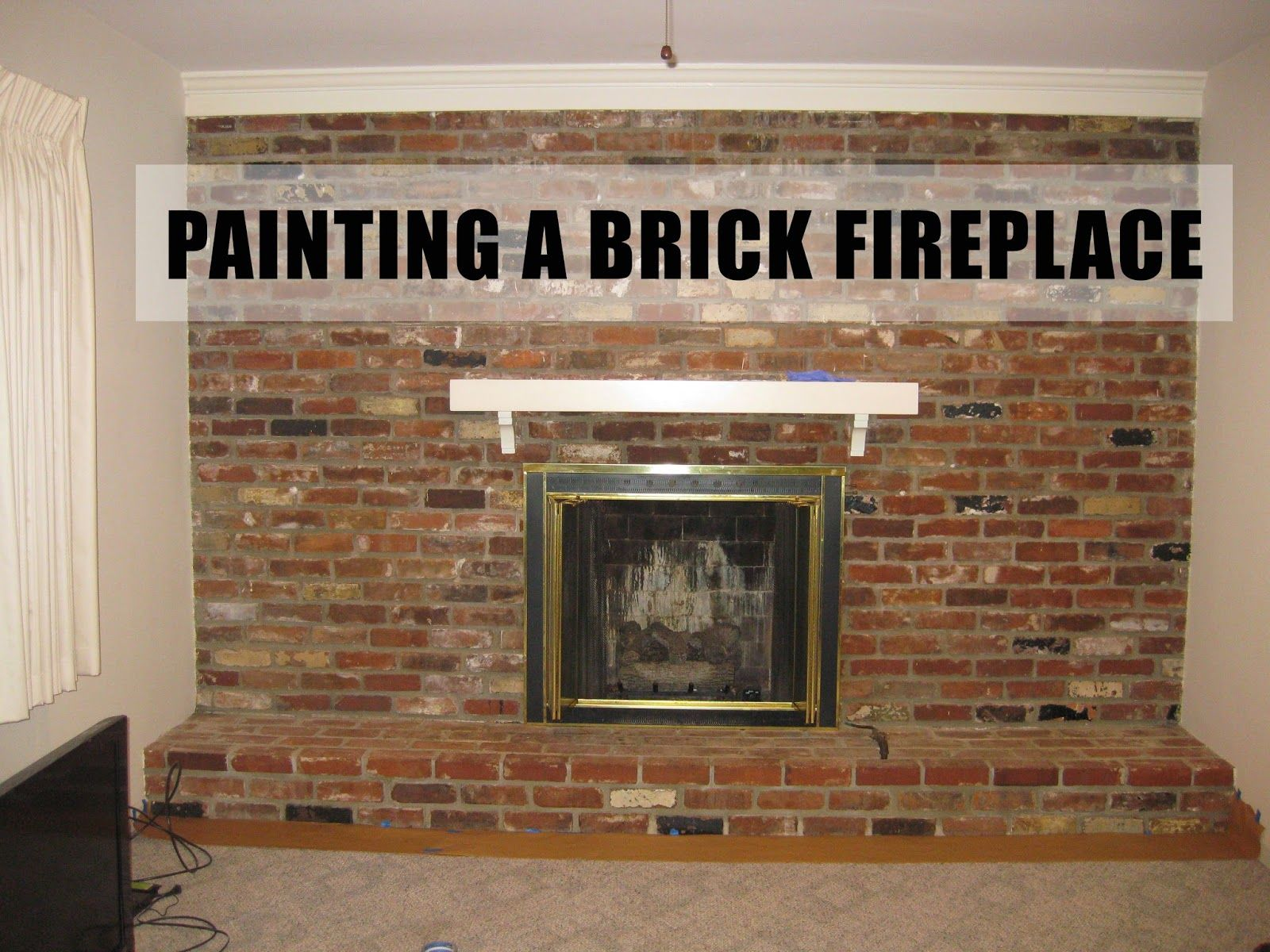 Before After Painting A Brick Fireplace Fireplace Painted