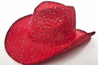 2bb9d4df Amazon.com: Sparkle Glitter Western / Red / Red Hat Lady Society: Clothing