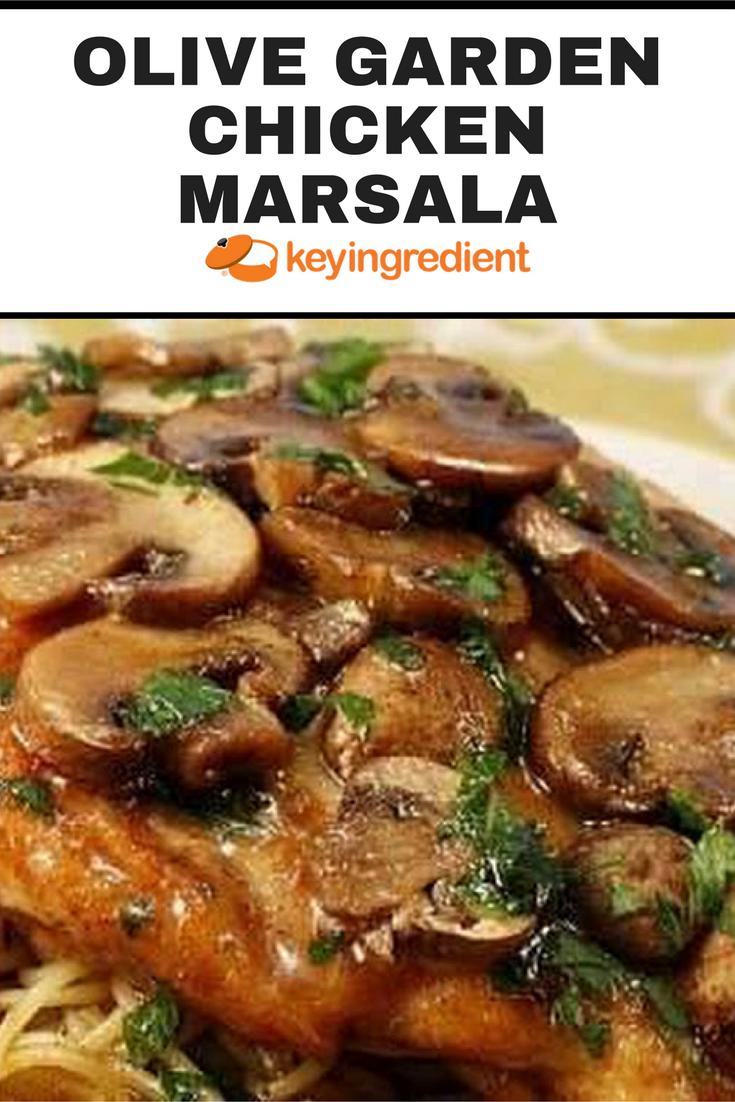 Olive Garden Chicken Marsala   Recipe   Chicken marsala, Olive ...