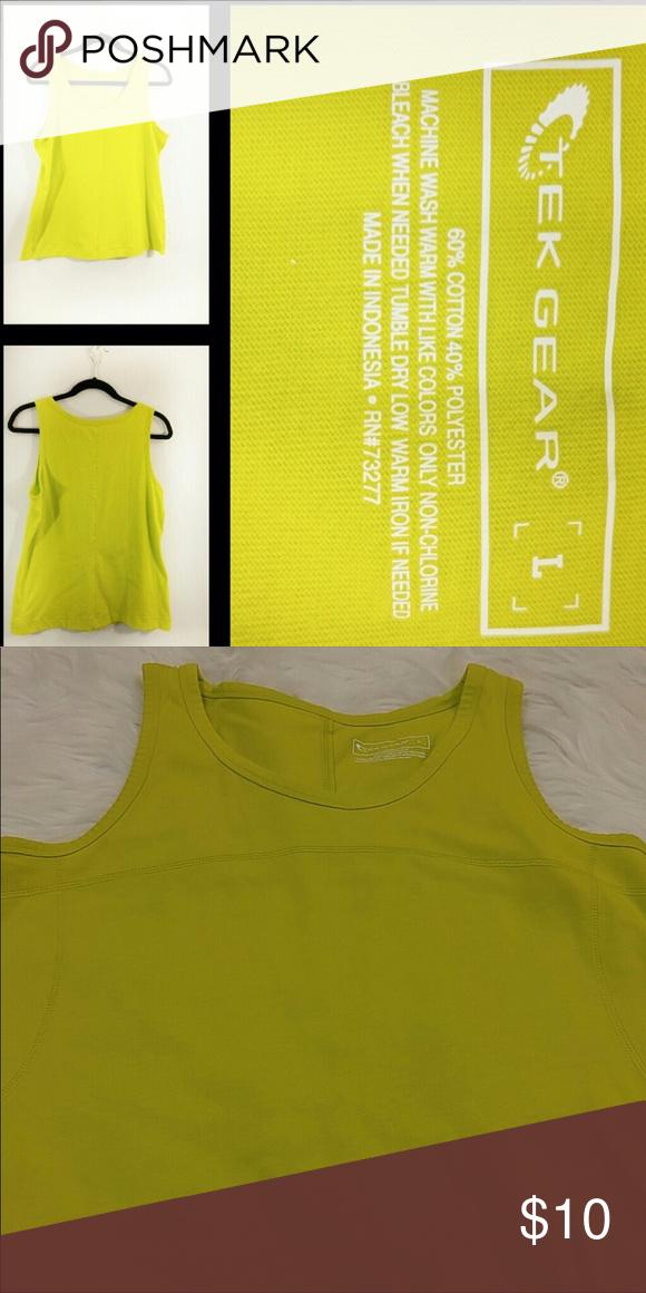 25077d644e4983 ⭐️3 for  20 Tek Gear lime green workout tank top Good Condition  G11
