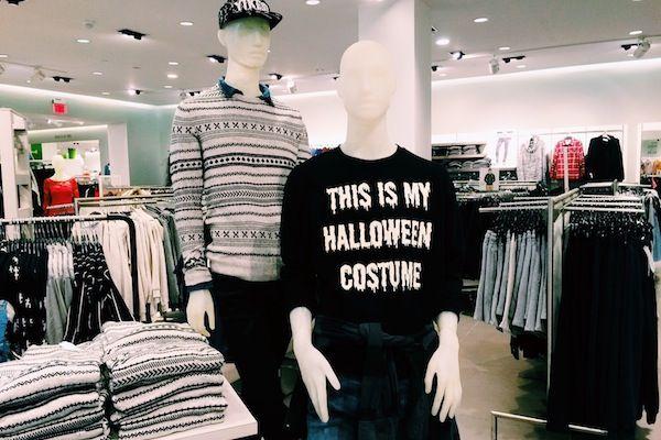 Normcore Halloween. #alishopsmoa