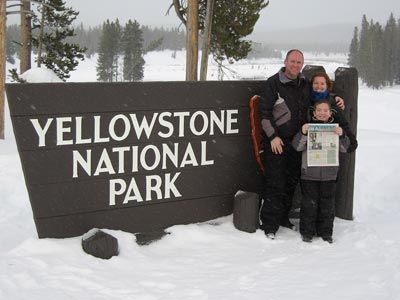 Snowmobiling through Yellowstone!