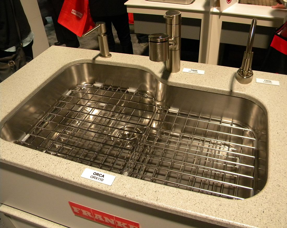 Franke Orca sink with FF2080 faucet, LB8280 hot/cold water Point-of ...