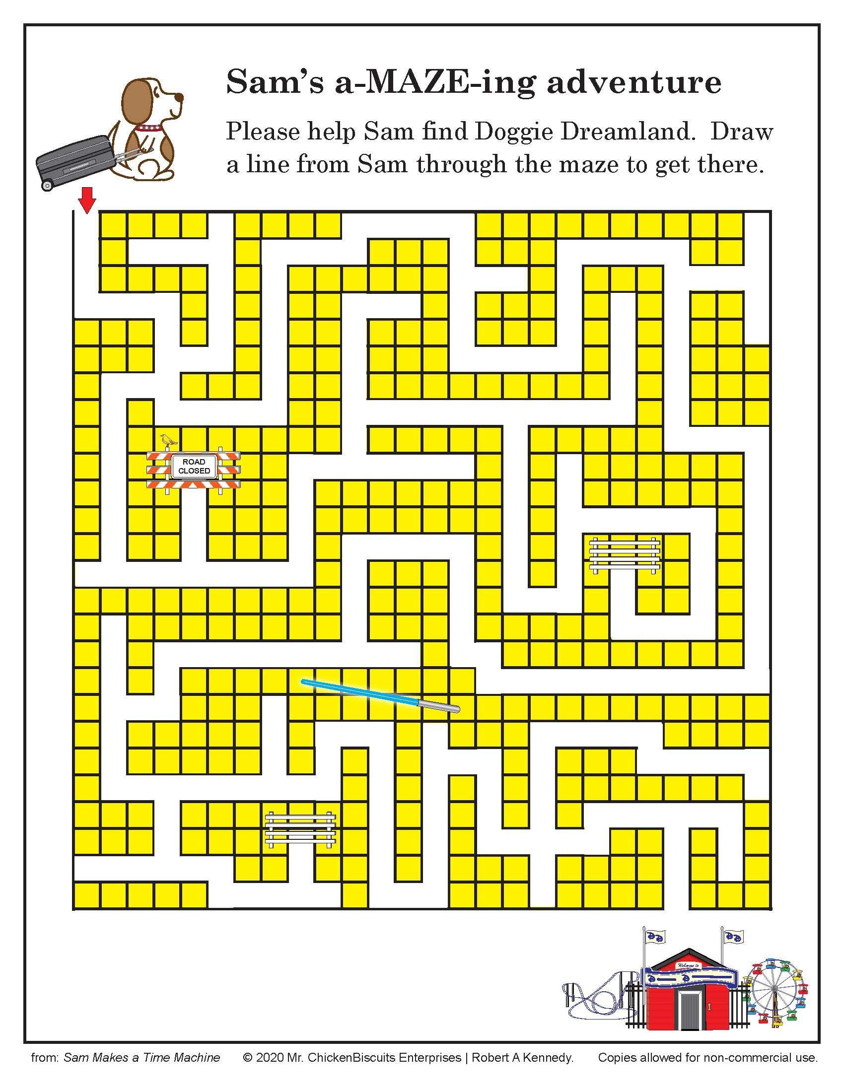 Maze Sam in Doggie Dreamland in 2020 Maze puzzles