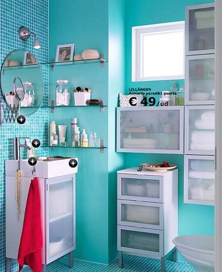 baño pequeño Baño Pinterest Baño pequeño, Baño y Pequeños - muebles para baos pequeos