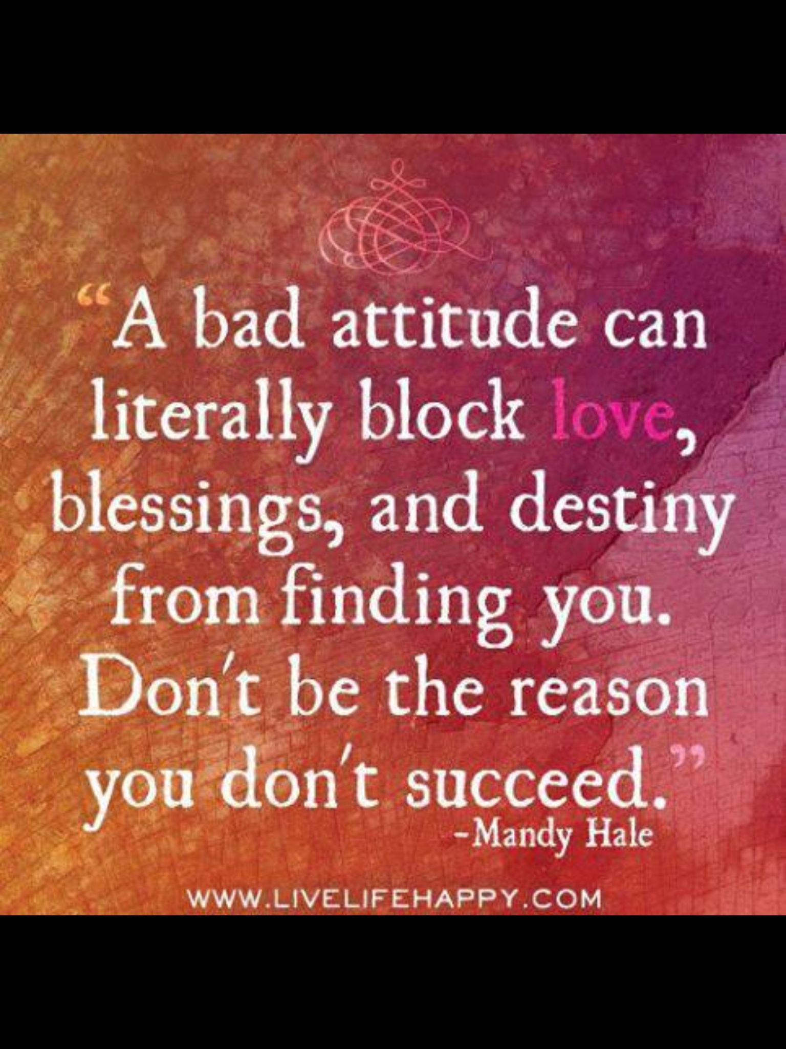 Bad Attitude Quotes Carry A Positive Attitude  Inspiration.motivation