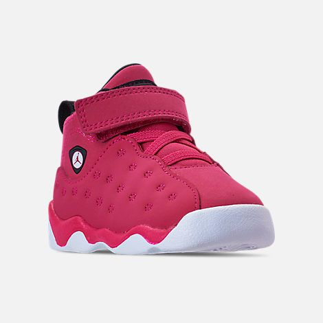 a66af7092098da Three Quarter view of Girls  Toddler Jordan Jumpman Team II Basketball Shoes  in Rush Pink Black Dark Smoke