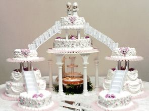 Weddings Cake with Water Fountain   This cake is similar to the ...