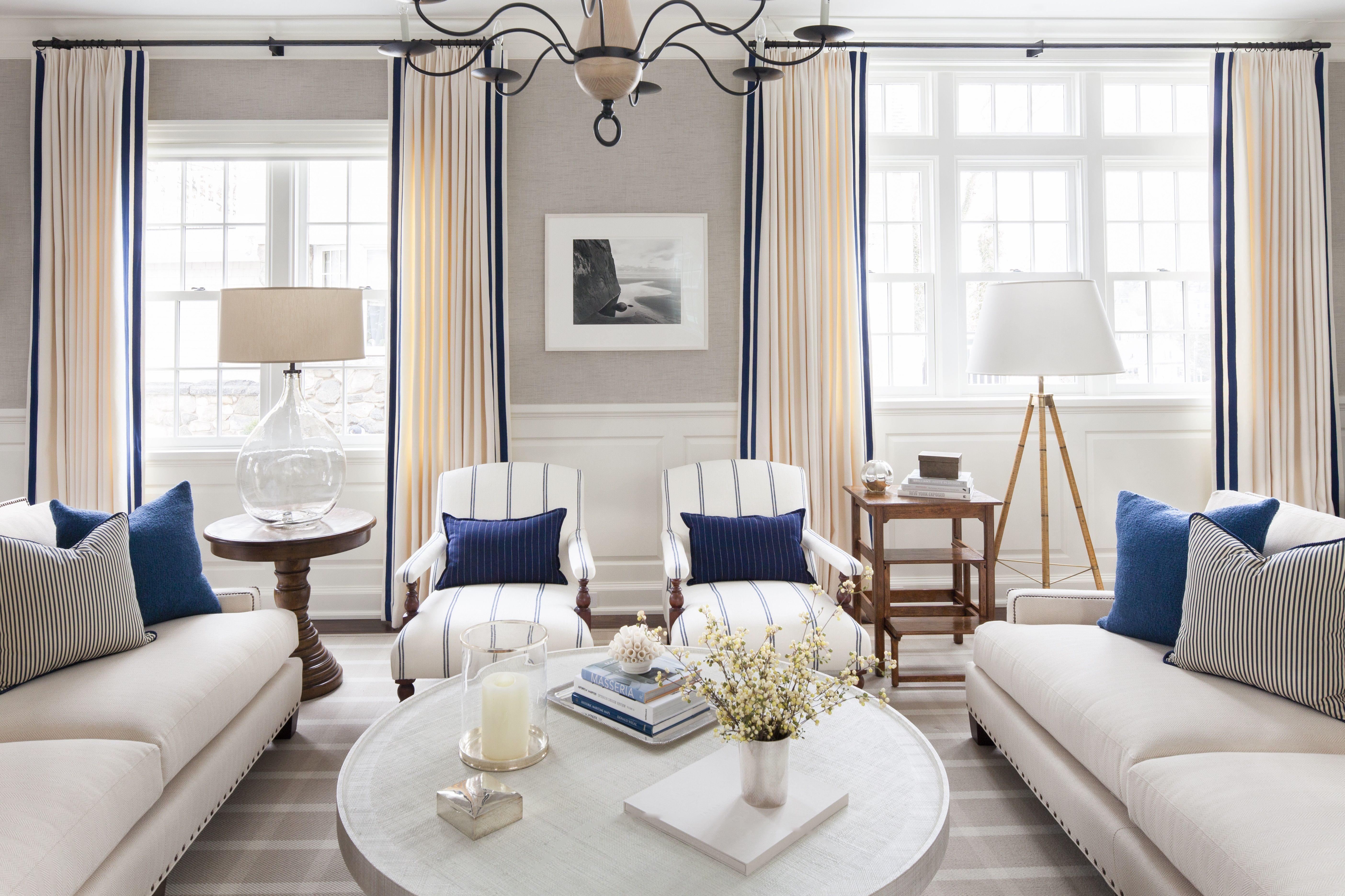 Greenwich, CT Pied-a-terre- Living Room by S.B. Long Interiors ...