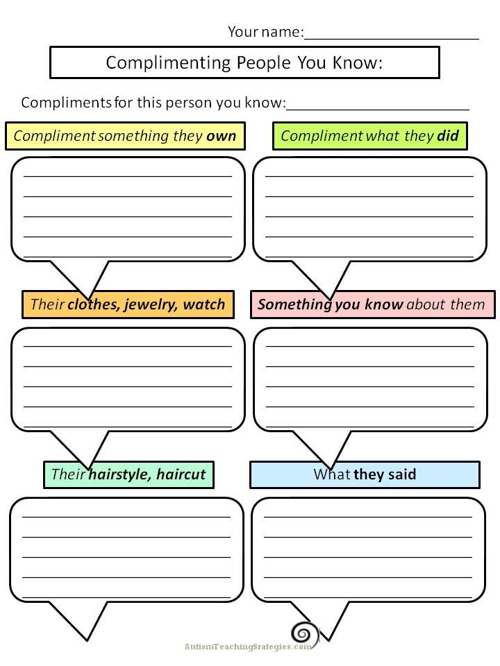 Great worksheets for social skills teaching – Therapy Worksheets for Kids