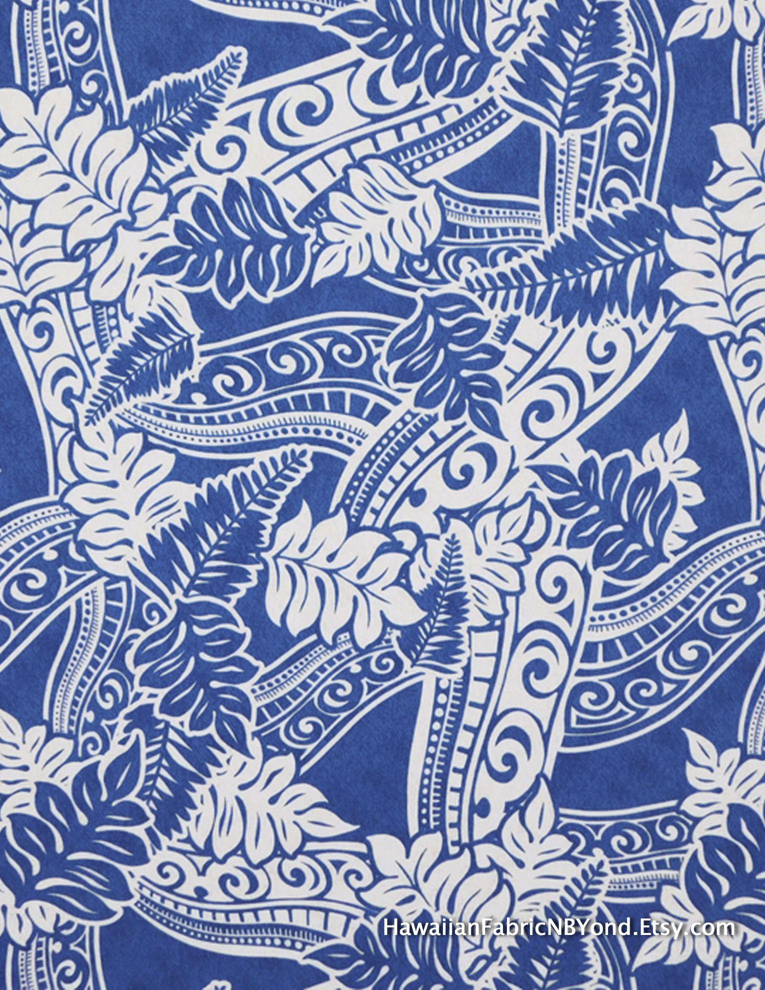 15c41d6a Fabric: Polynesian tattoo and tapa patterns and tropical ferns. lavalava and  Aloha shirts fabric. By HawaiianFabricNBYond.Etsy.com