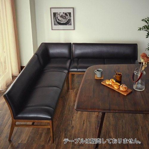 レトロ風合皮のダイニングソファーセット ソファーダイニング リビング 配置 ソファ テーブル