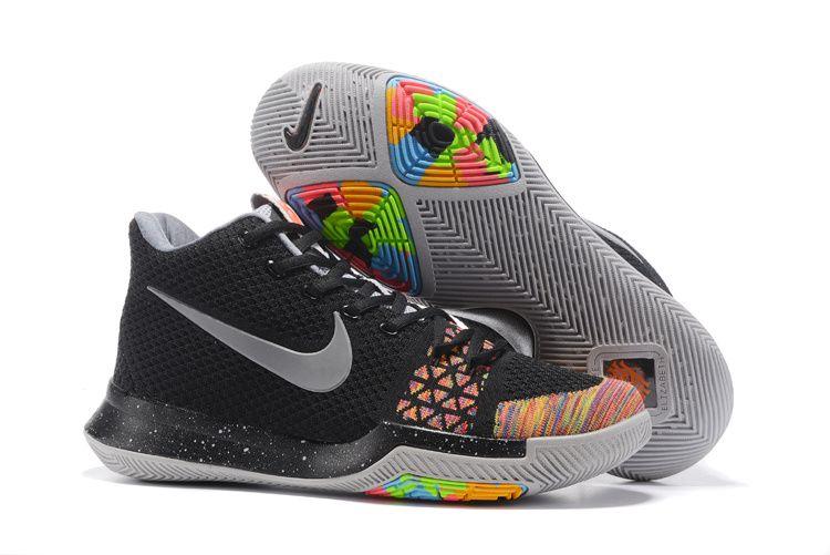 4b6fc4ed806b Cheap Nike Flyknit Kyrie 3 Shoes Black Multicolor on www.flyknitmax2017.com