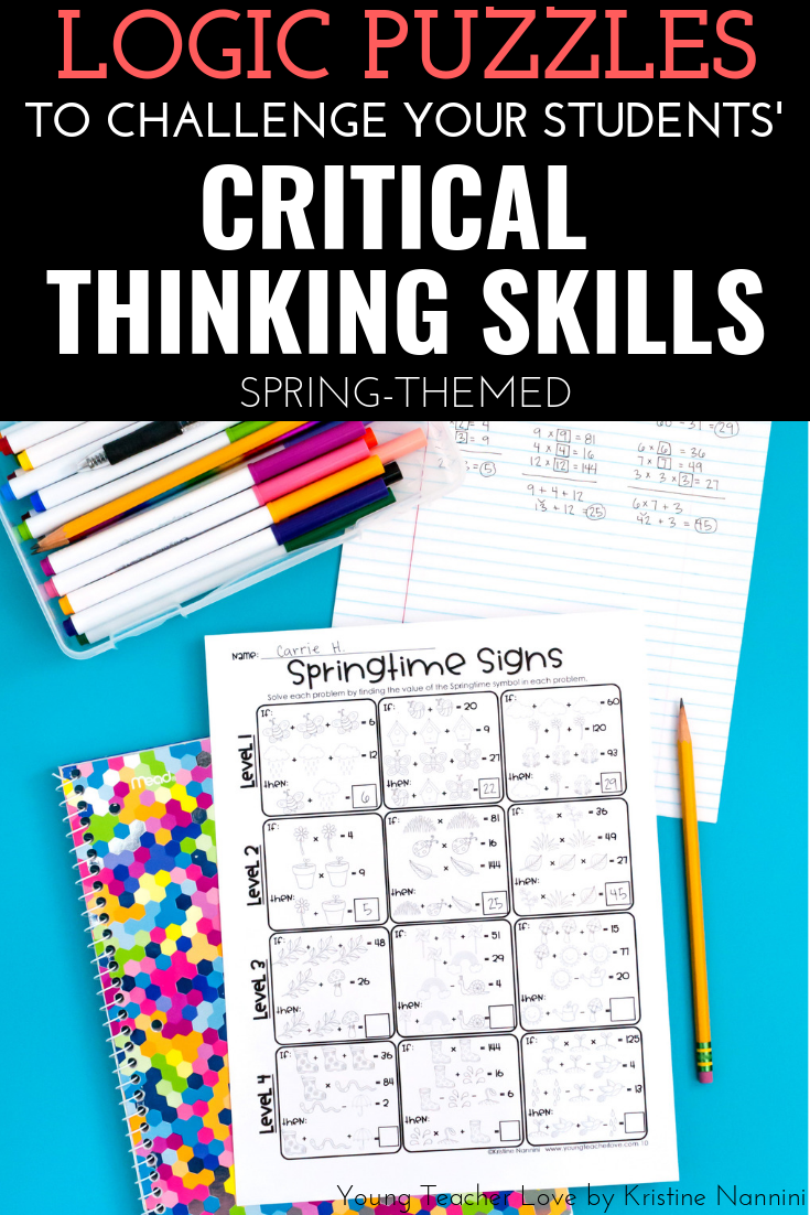 Spring Logic Puzzles Brain Teasers Critical Thinking Review Important Math Concepts In Your 3 Logic Puzzles Brain Teasers Logic Puzzles Critical Thinking [ 1102 x 735 Pixel ]