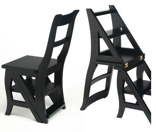 Step Ladder Chair Wooden Folding Solid